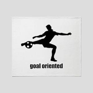 Goal Oriented Soccer Throw Blanket