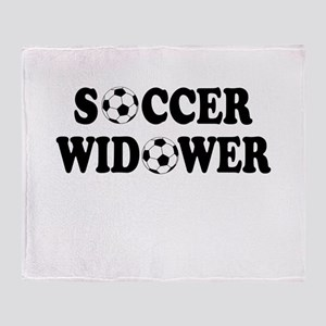 Soccer Widower Throw Blanket