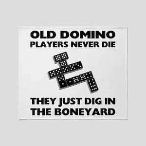 Domino Players Never Die Throw Blanket
