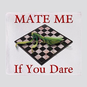 Mate Me Chess Throw Blanket