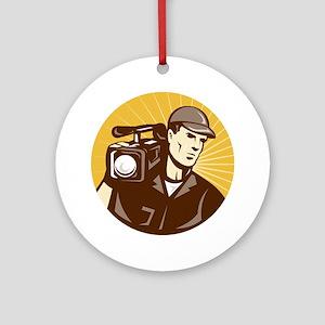 cameraman filmcrew Ornament (Round)