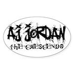 AJ Jordan The Crescendo Logo Sticker (Oval)