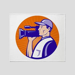 cameraman filmcrew Throw Blanket