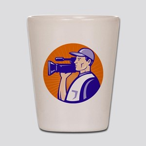 cameraman filmcrew Shot Glass