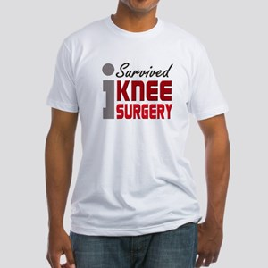I Survived Knee Surgery Fitted T-Shirt