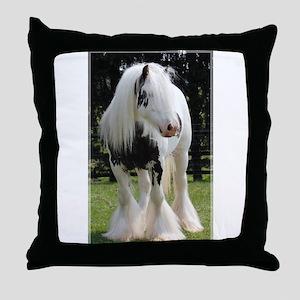 Gypsy Horse Stallion Throw Pillow