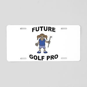 Future Golf Pro (Girl) Aluminum License Plate