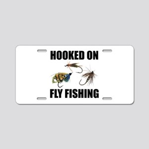 Hooked on Fly Fishing Aluminum License Plate