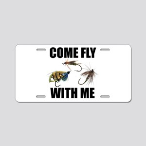 Come Fly With Me Aluminum License Plate
