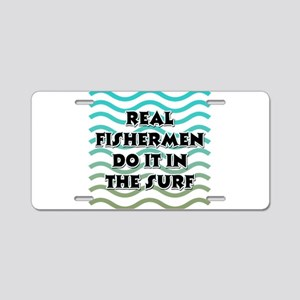 Surf Fishing Aluminum License Plate