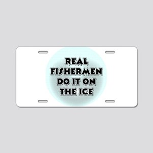 Ice Fishing Aluminum License Plate