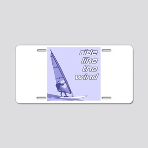 Windsurfing Aluminum License Plate