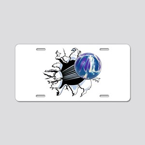 Breakthrough Bowling Ball Aluminum License Plate