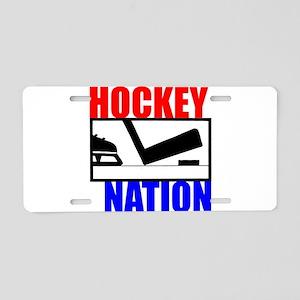 Hockey Nation RWB Aluminum License Plate