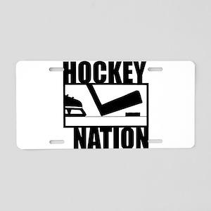 Hockey Nation Aluminum License Plate