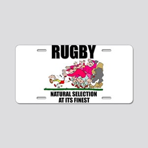 Natural Selection Rugby Aluminum License Plate
