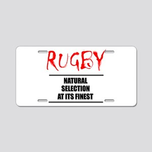 Rugby Natural Selection Aluminum License Plate
