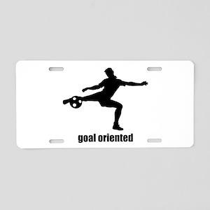 Goal Oriented Soccer Aluminum License Plate
