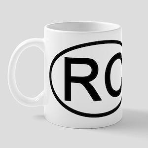 RC - Initial Oval Mug