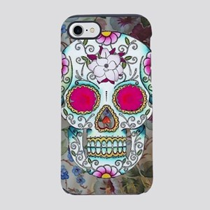 Tea Cup Sugar Skull iPhone 8/7 Tough Case