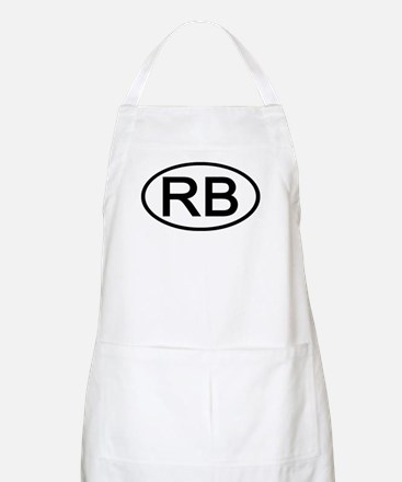 RB - Initial Oval BBQ Apron