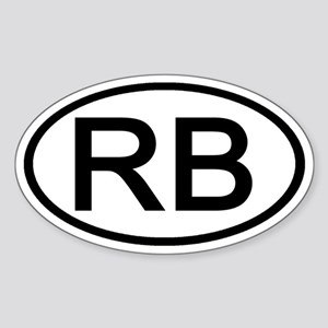 RB - Initial Oval Oval Sticker