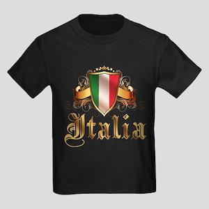 italian pride Kids Dark T-Shirt