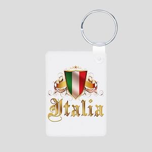 italian pride Aluminum Photo Keychain