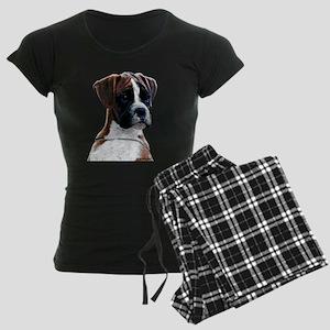 Brindle Boxer Puppy Women's Dark Pajamas