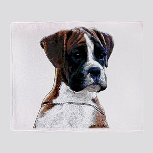 Brindle Boxer Puppy Throw Blanket
