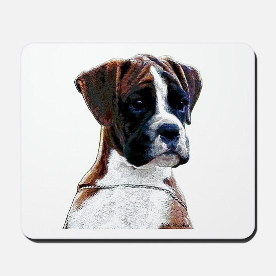 Brindle Boxer Puppy Mousepad