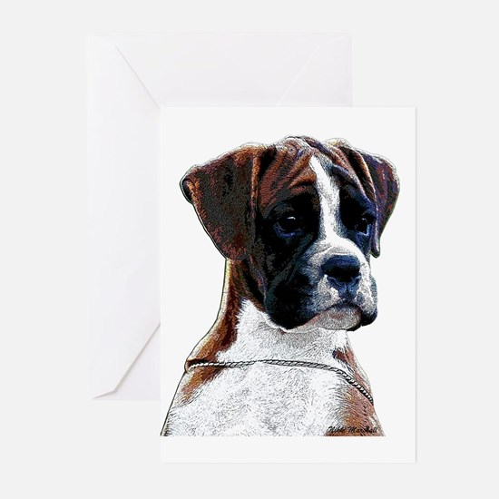 Brindle Boxer Puppy Greeting Cards (Pk of 10)