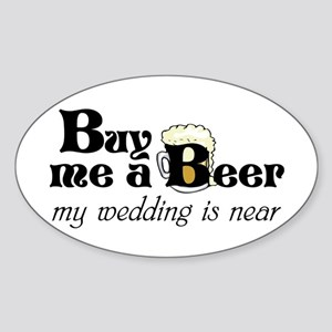 Buy Me A Beer Sticker (Oval)