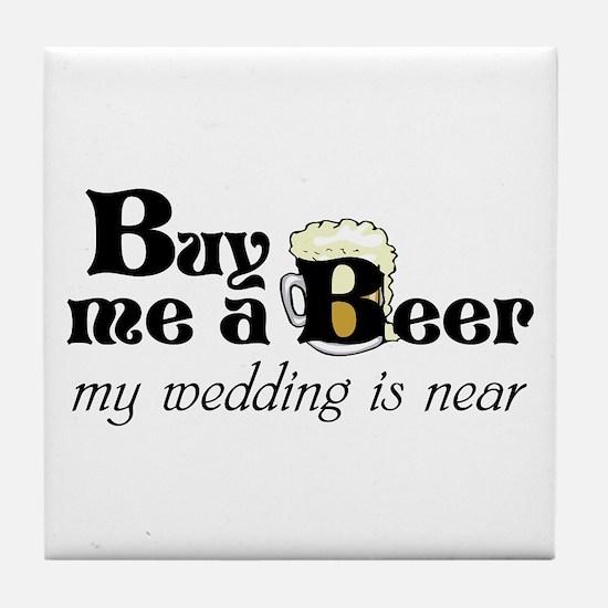 Buy Me A Beer Tile Coaster