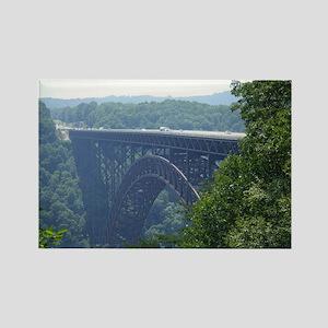 New River Gorge Bridge Rectangle Magnet