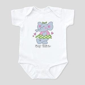 Elephant Big Sister Infant Bodysuit