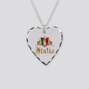 italian pride Necklace Heart Charm