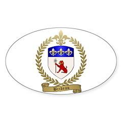 BRIDEAU Family Crest Sticker (Oval 10 pk)