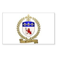 BRIDEAU Family Crest Sticker (Rectangle)