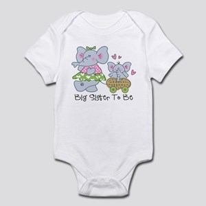 Elephant Future Big Sister Infant Bodysuit