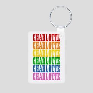 Rainbow Name Aluminum Photo Keychain