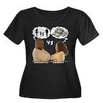 Versus Women's Plus Size Scoop Neck Dark T-Shirt