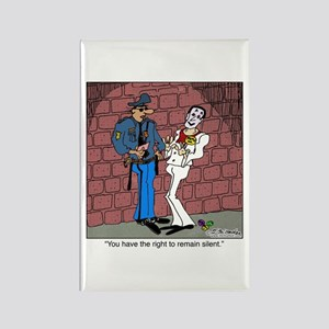 The Right To Remain Silent Rectangle Magnet