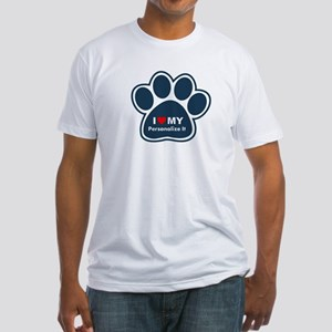 Personalized Pet Paw Fitted T-Shirt