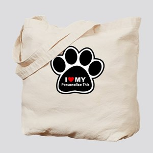Personalized Pet Paw Tote Bag
