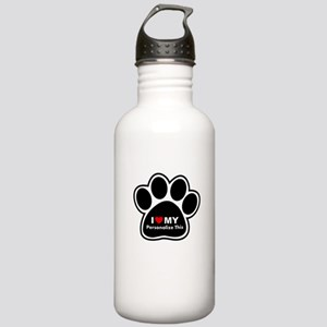 Personalized Pet Paw Stainless Water Bottle 1.0L