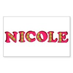 Nicole Sticker (Rectangle 10 pk)