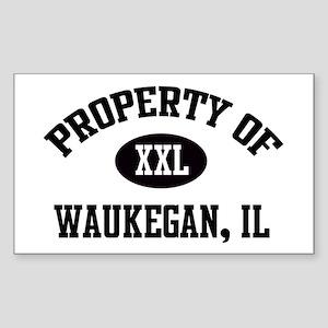 Property Of Waukegan Rectangle Sticker