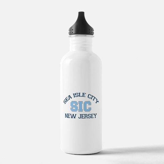 Sea Isle City NJ - Varsity Design Water Bottle