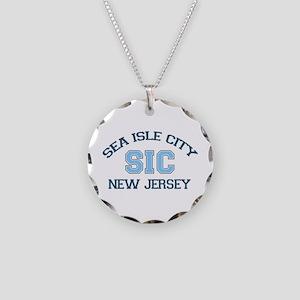 Sea Isle City NJ - Varsity Design Necklace Circle